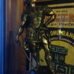 Art Garland #58 - The Michigan Stove Co. Has a roman knight statue that has great detail from the dragon on his helmet to his lion faced boots. The lion sidewings also have great detail in the face!