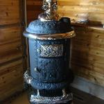 E-20 Round Oak Stove. This stove is restored and has a new jacket / barrel ready to burn! $2250.00