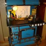 Blue Enamel Quick Meal Cookstove. Combination wood and gas. $7,500